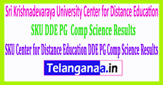 Sri Krishnadevaraya University SKU DDE PG (Comp Science) Results 2018 Download
