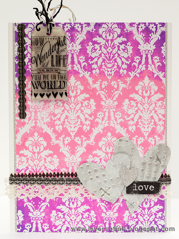 Layers of ink - Ombre Valentine's Card by Anna-Karin