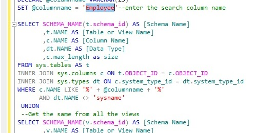 how to change column name of view in sql