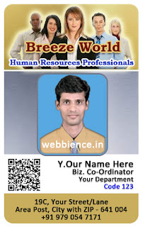 qr code identity cards - qr coded idcards