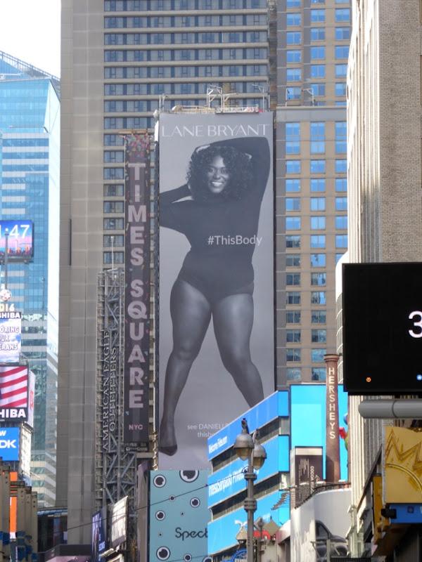 Lane Bryant Danielle Brooks billboard Times Square