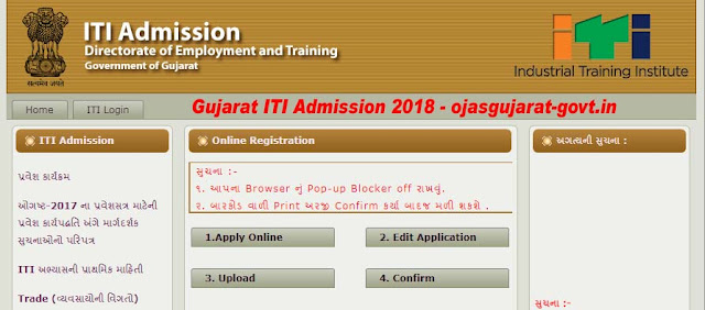 Gujarat ITI Admission 2018 Form, Result, Merit List – Call Letter Downlaod itiadmission.gujarat.gov.in