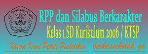 RPP dan Silabus Berkarakter SD Kelas 1 Kurikulum KTSP/2006