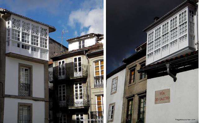 Fachadas típicas de Santiago de Compostela