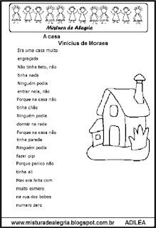 Poesia a casa e atividades