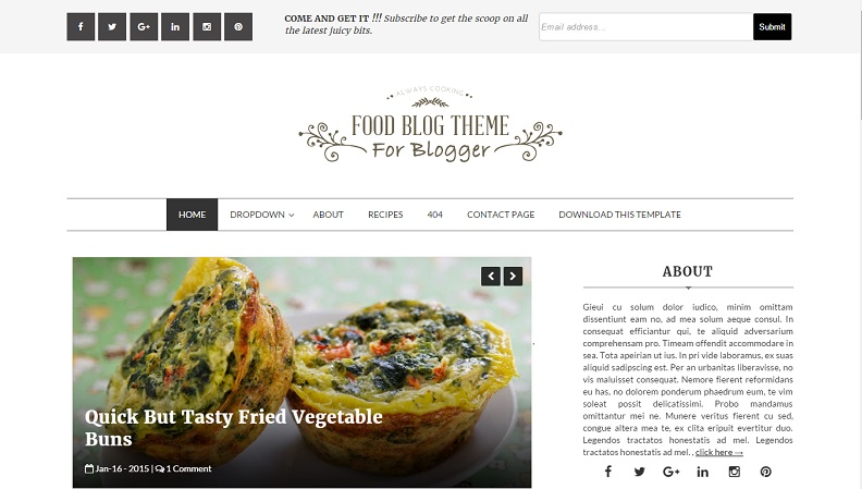 Download - Food Blog Responsive Blogger Template