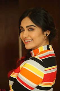 Adha Sharma in a Cute Colorful Jumpsuit Styled By Manasi Aggarwal Promoting movie Commando 2 (104).JPG