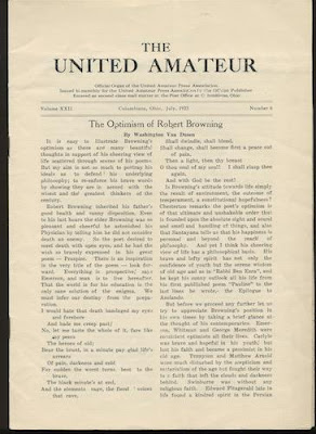 page from THE UNITED AMATEUR. Jul,1923. Vol. XXII, No.6.: LOVECRAFT, H.P.) photo source: http://pictures.abebooks.com