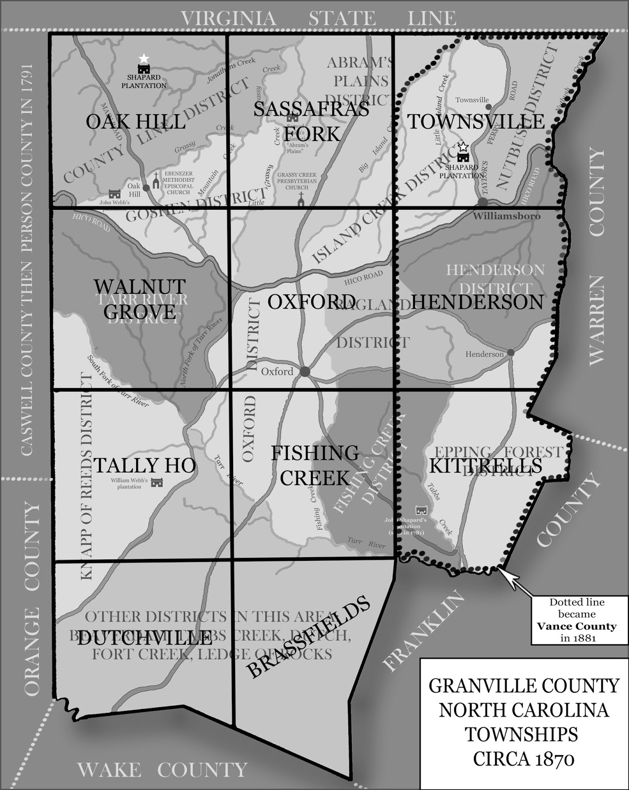 granville county districts map