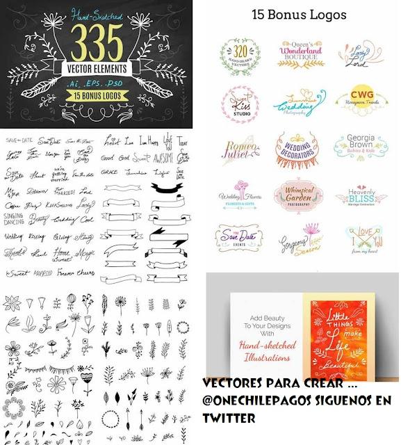 335 vectores para crear un excelente tazon o polera