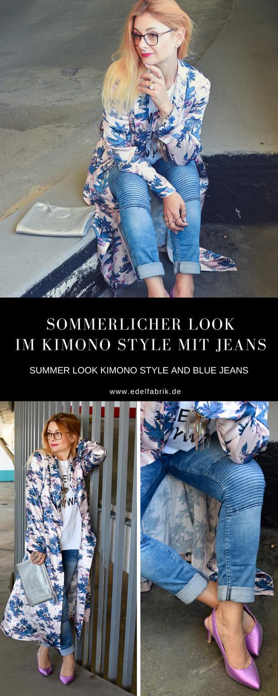Outfit mit Kimono, Streetstyle mit Kimono, Kimono kombinieren