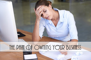 Business owner pain with title text