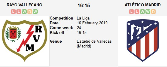 vallecano vs atletico madrid live
