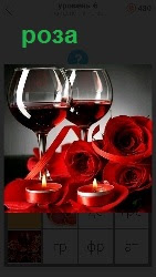 букет роз на столе