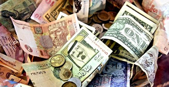 Dinheiro do mundo - a origem dos nomes das moedas de vários países