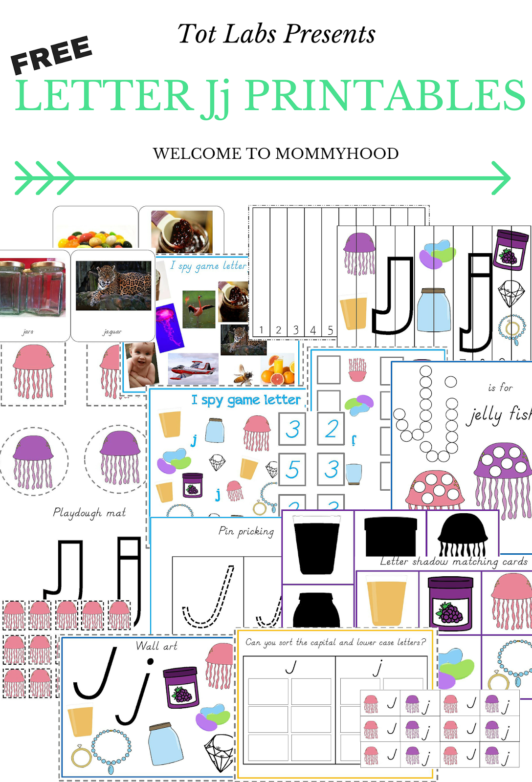 Welcome To Mommyhood Free Letter Jj Printables In English And Russian