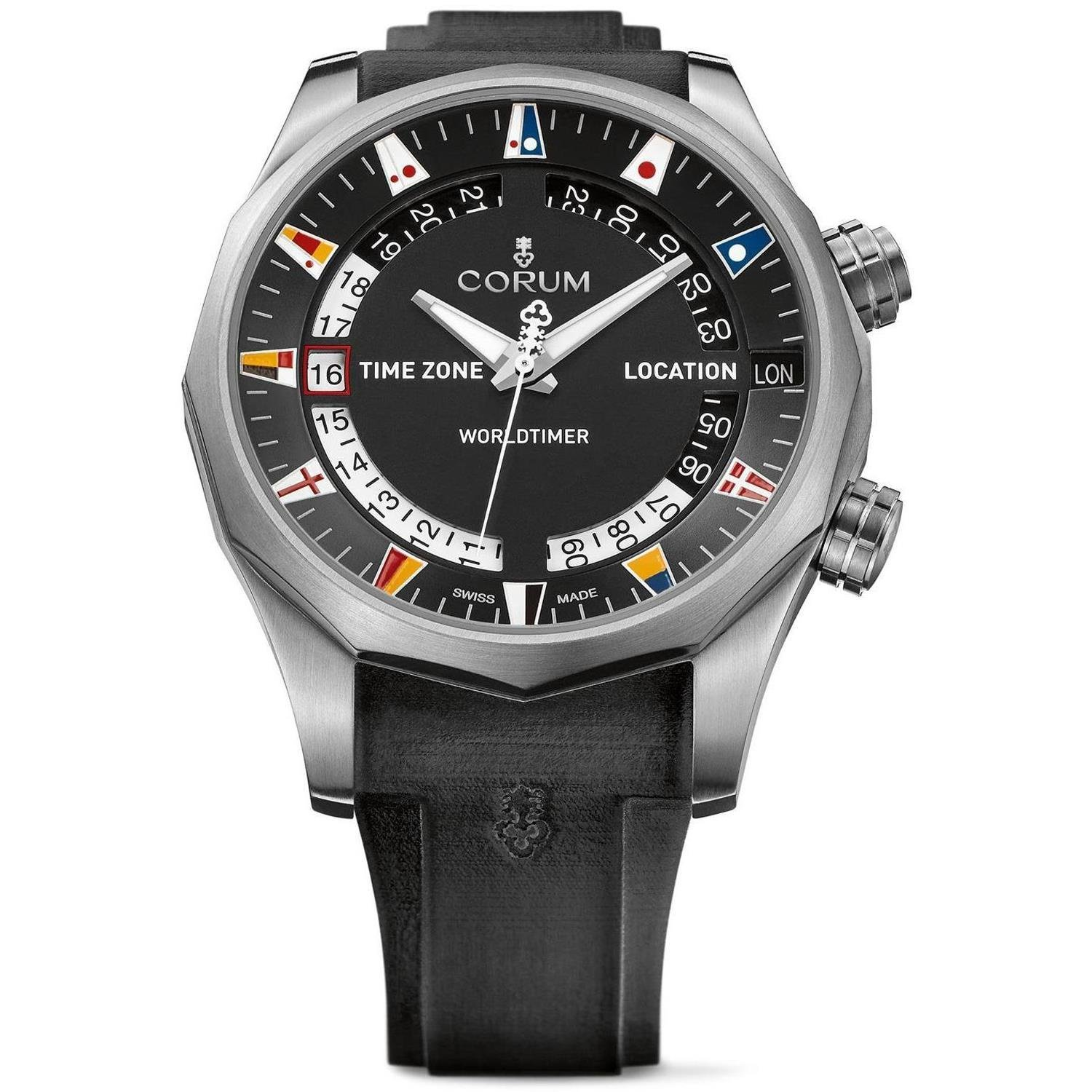 CORUM MEN'S ADMIRAL S CUP LEGEND 47 WORLDTIMER 47MM WATCH