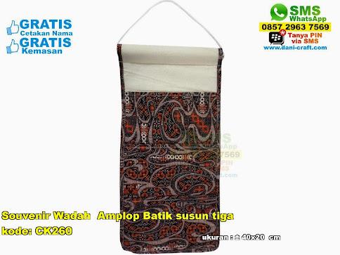 Souvenir Wadah Amplop Batik Susun Tiga