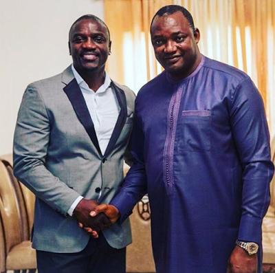 Photos: Akon meets new Gambian President, Adama Barrow