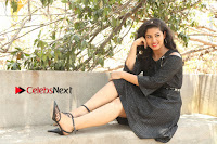 Telugu Actress Pavani Latest Pos in Black Short Dress at Smile Pictures Production No 1 Movie Opening  0108.JPG