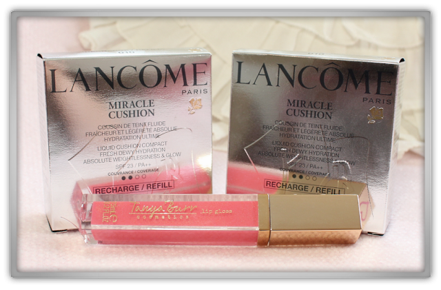 Lancome Miracle Cushion 010 Tanya Burr Lip gloss Afternoon Tea Haul Review feelunique