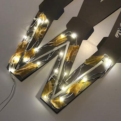Silhouette Cameo - bokstavslampa, montering av ljusslinga