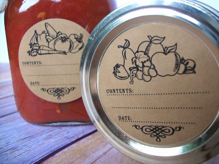 kraft canning labels
