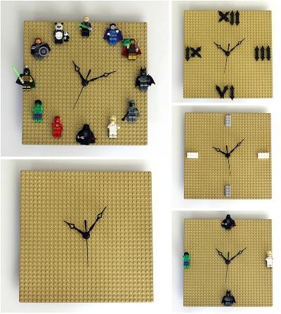 9. Jam dinding terbuat dari Lego