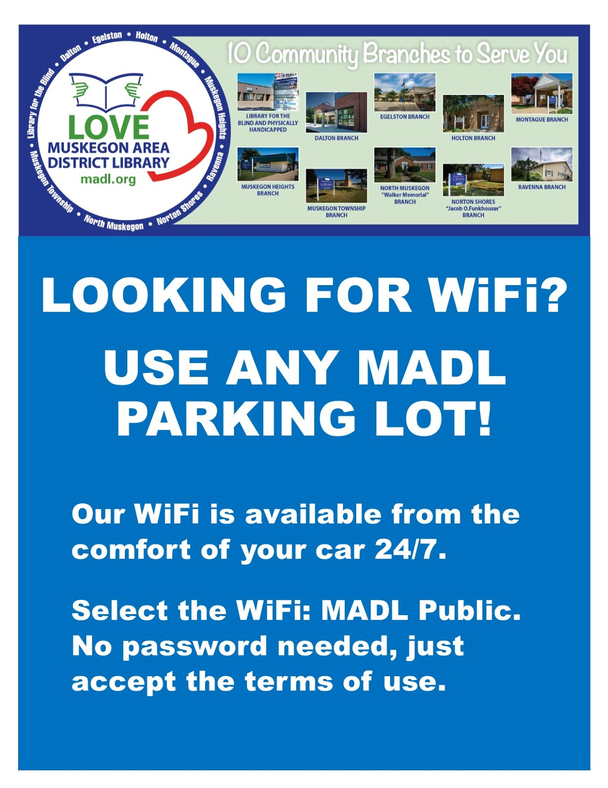 Free Wi-Fi from the MADL