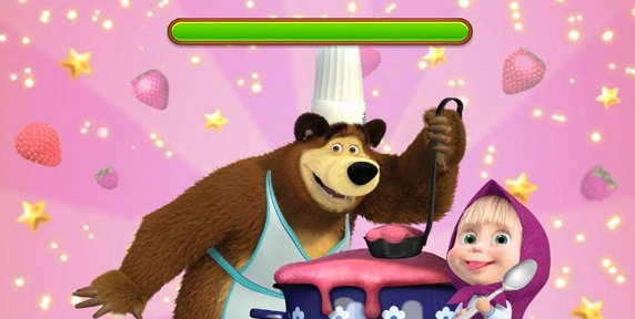 Permainan Masak Masakan Masha and Bear: Cooking Dash