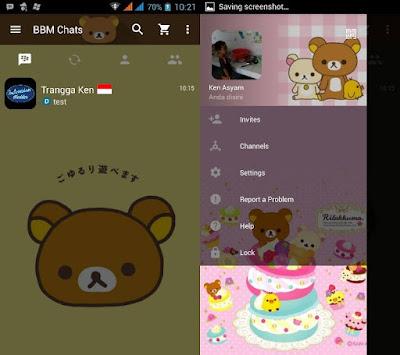 BBM MOD Tema Relak Kuma Beruang v.3.0.0.18 Apk Terbaru