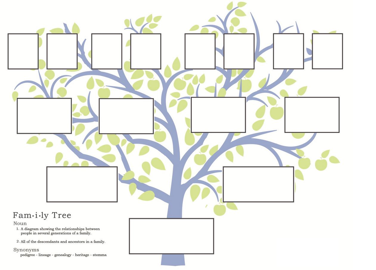 Cathy 39 s reviews genealogy conference if you want to for Blank family tree template for kids