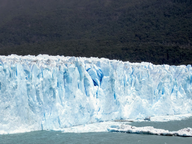 Craggy peaks of ice that are part of Perito Moreno Glacier near El Calafate Argentina