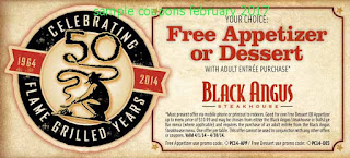 Black Angus Steakhouse coupons february