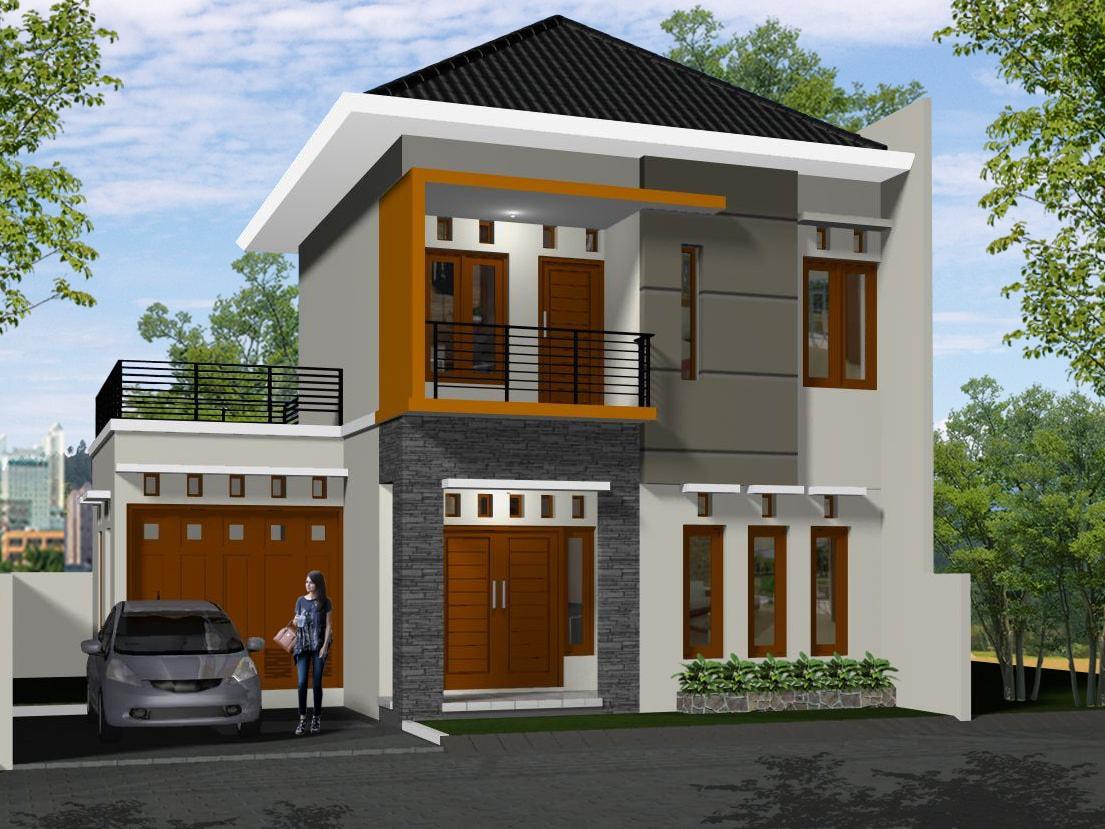 Gambar Desain Rumah Minimalis 2 Lantai Type 80 Terbaru | Desain Rumah Minimalis Terbaru Tahun Ini