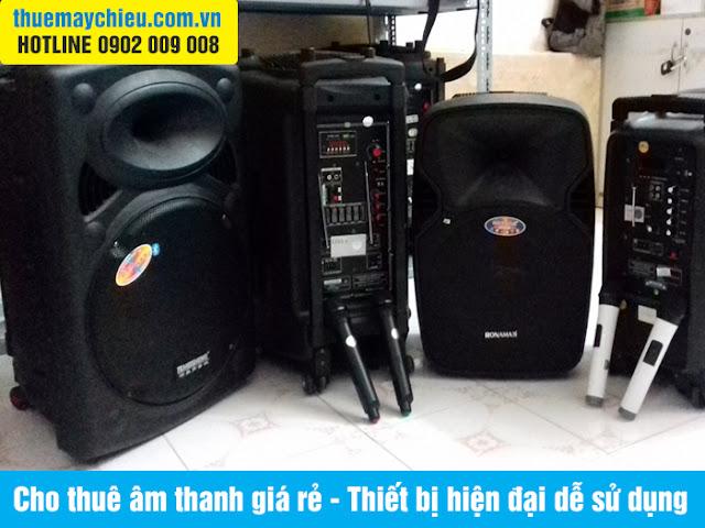 Cho thuê âm thanh giá rẻ - Thiết bị hiện đại dễ sử dụng