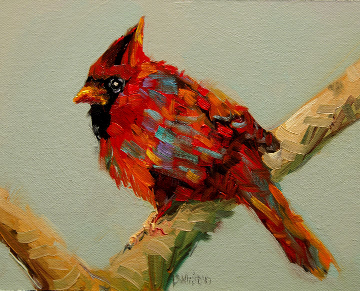 daily painters abstract gallery artoutwest diane whitehead cardinal