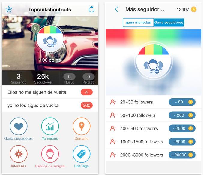 App para conseguir más seguidores en Instagram