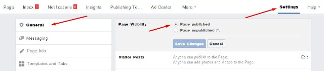 Page Visibility Fanpage Facebook