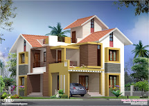 2000 Sq.feet Villa Floor Plan And Elevation - Kerala Home