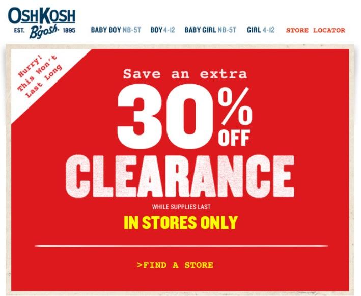 picture regarding Oshkosh Printable Coupon named Oshkosh printable coupon inside of shop : Quilt retail outlet coupon codes