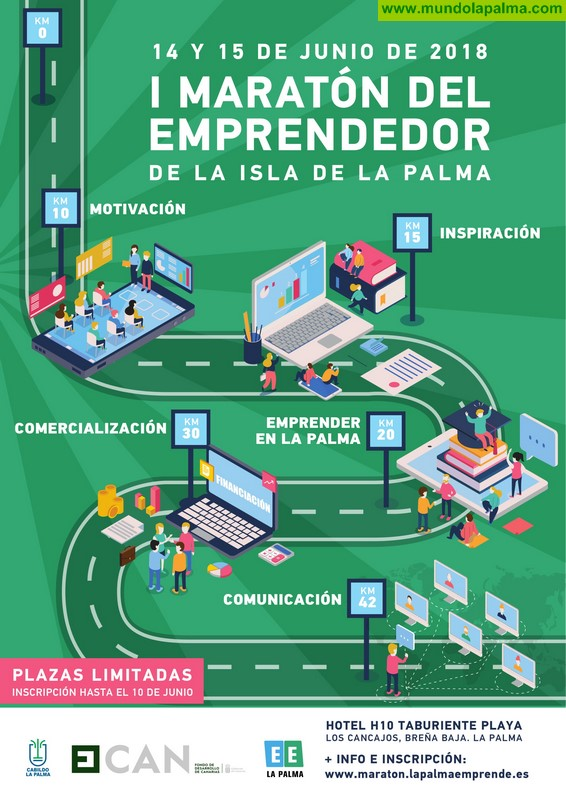 La 'I Maratón del Emprendedor' reunirá en La Palma a expertos en transformación digital, marketing, estrategia y financiación