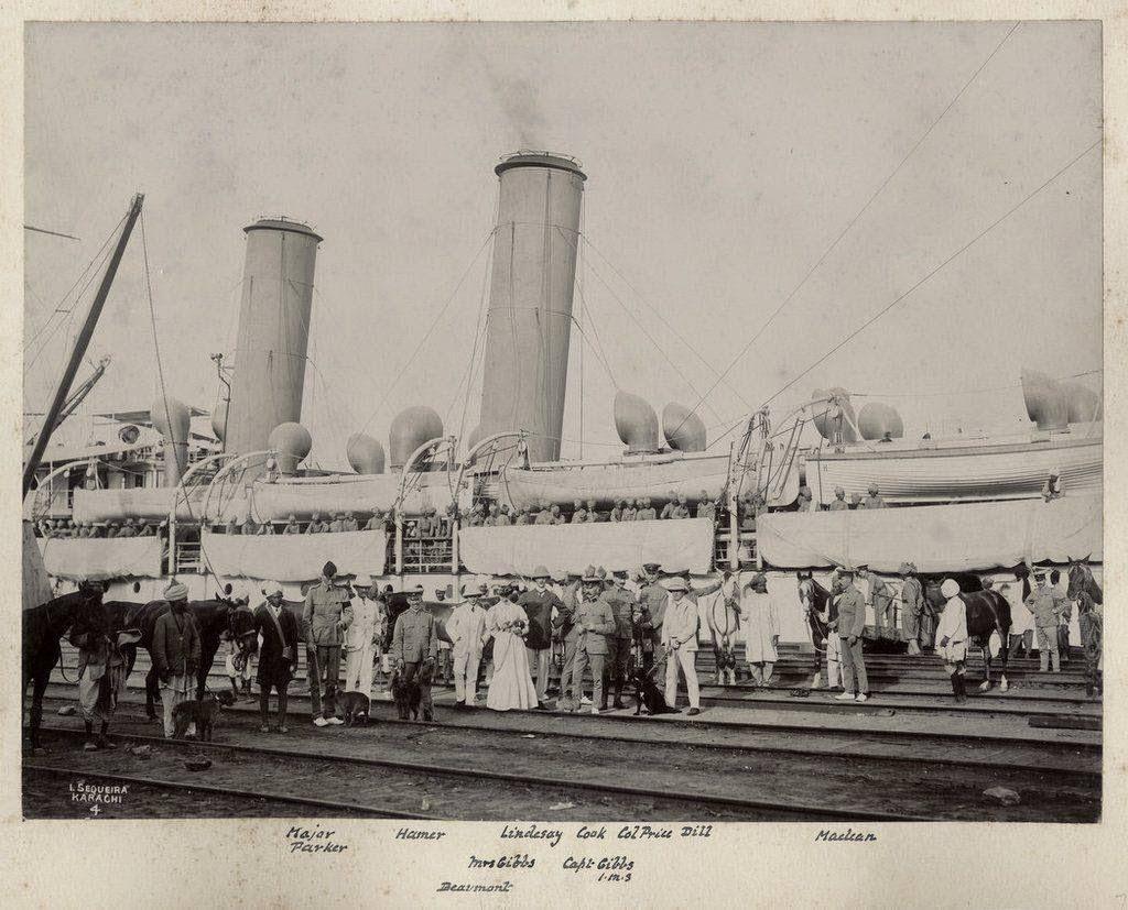 Boarding Ship at Karachi - c1905