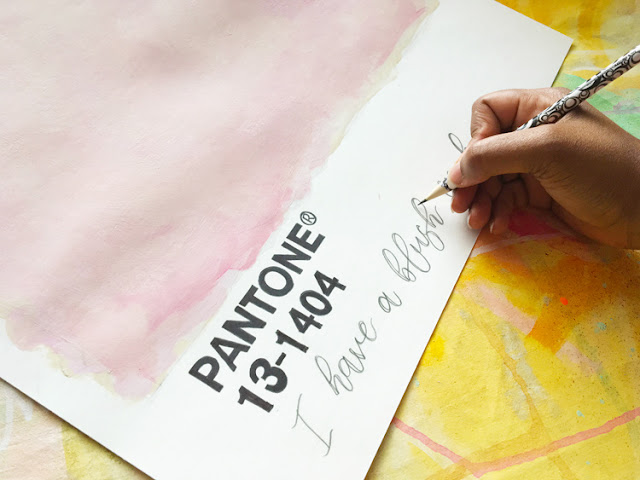 Pantone Inspired Abstract Art - DIY paint swatch