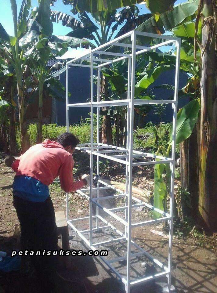 Cara membuat rak kandang ternak lovebird dari besi siku