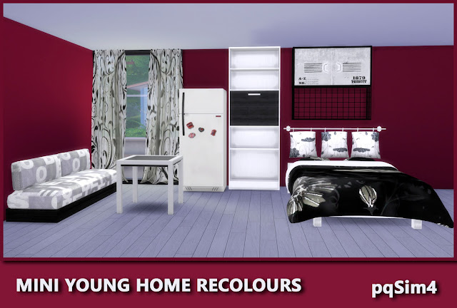 Mini Young Home. Piezas recoloreadas.