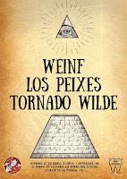 Concierto de Weinf, Los Peixes y Tornado Wilde en El perro de la parte de atrás del coche