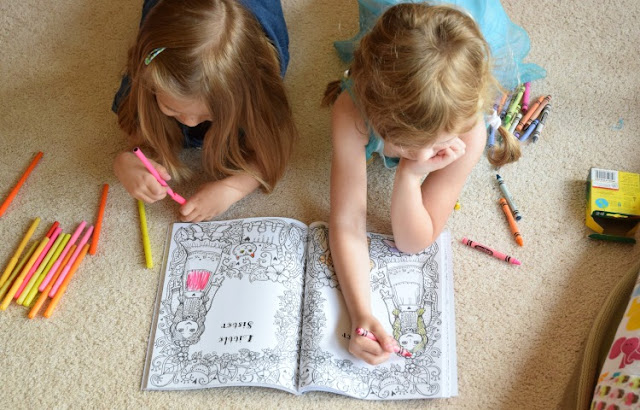 Big Sister and Little Sister: A Coloring Book For Two, part of May Reading Roundup