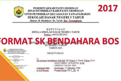 Format SK Guru Menjadi Bendahara BOS SD,SMP dan SMA.