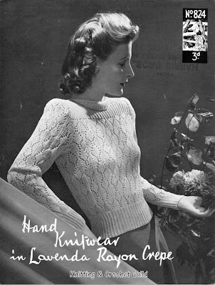 1940s  vintage knitting pattern